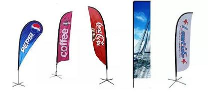 Durable Waterproof Flying Advertising Feather Beach Flag
