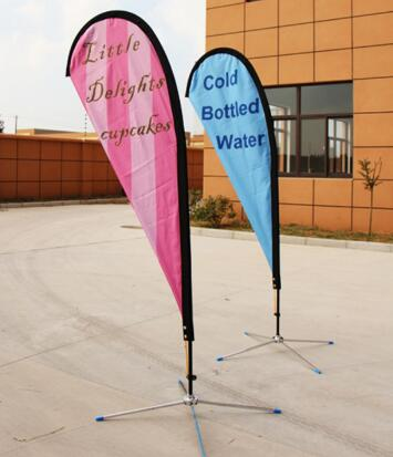 Practical Flying Beach Feather Flag for Commercial Advertising